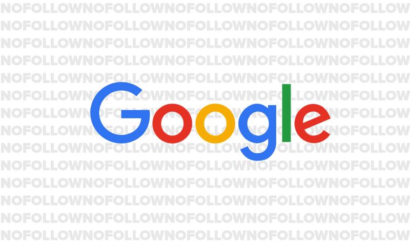 nofollow links and google logo