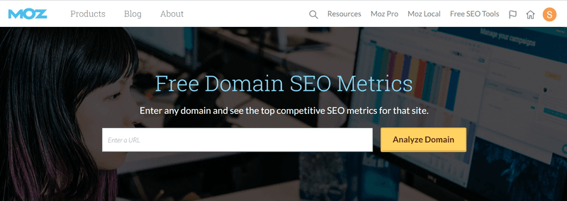 moz domain seo metrics tool