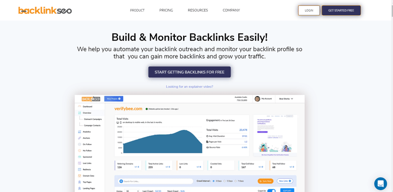 BacklinkSEO's home page