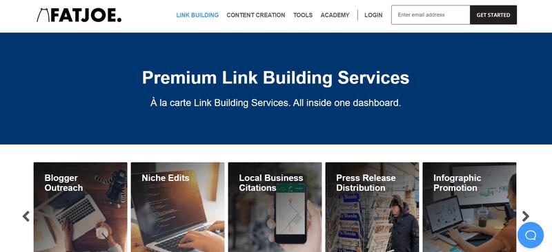 FATJOE's range of link building services