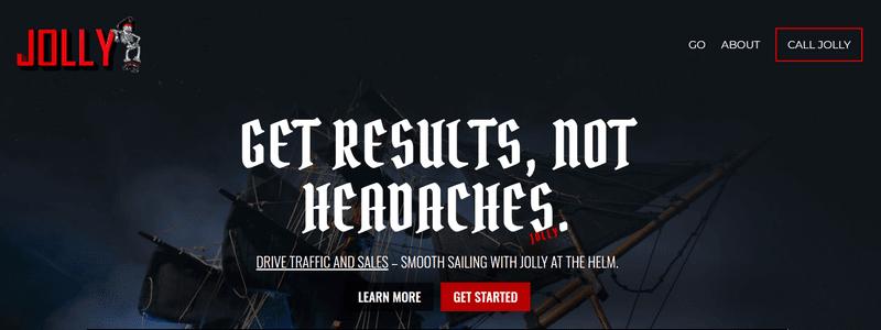 Jolly SEO's homepage