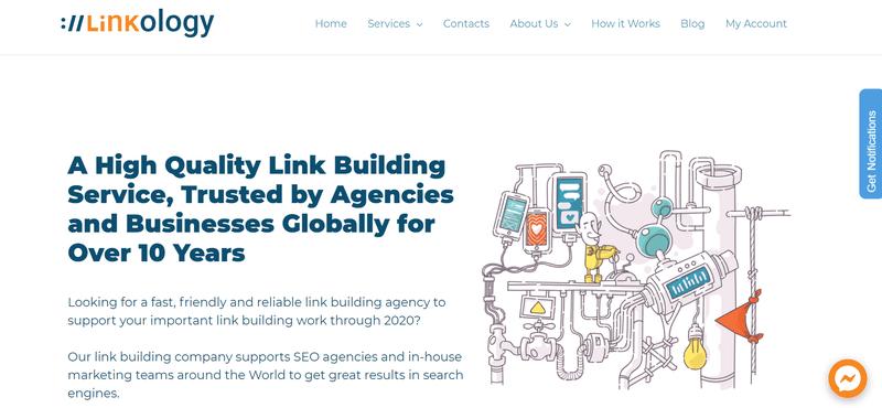 Linkology's homepage