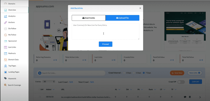 Option to manually add backlinks to BacklinkSEO